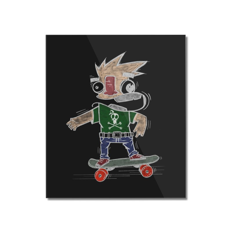 Skateman Home Mounted Acrylic Print by manuvila