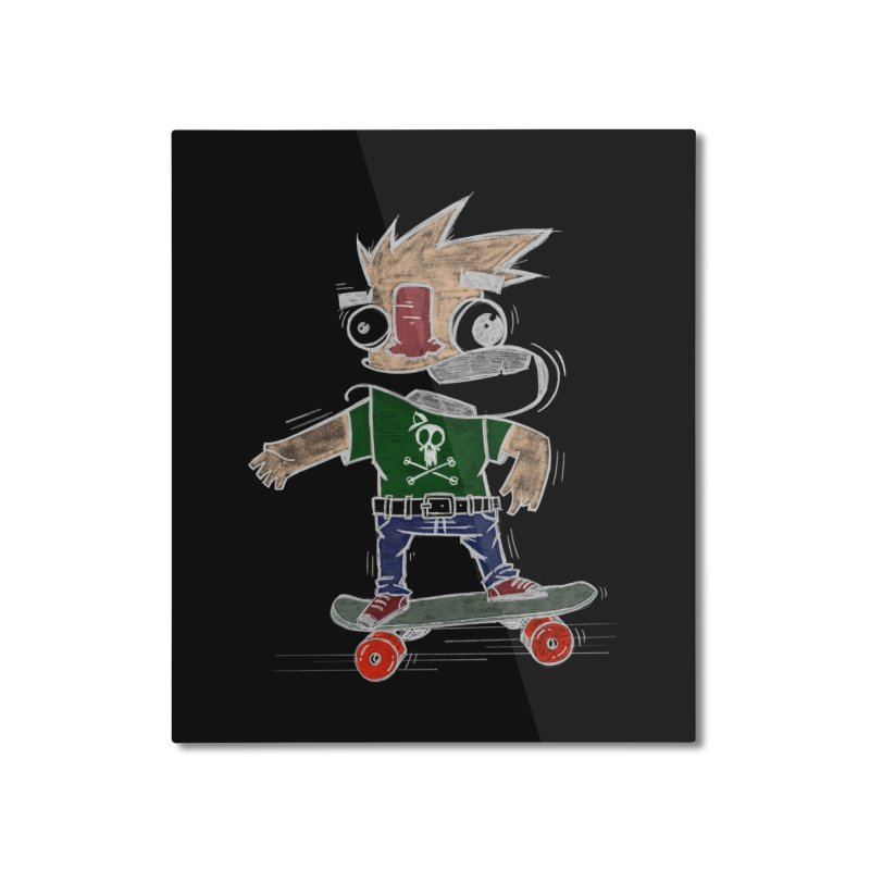 Skateman Home Mounted Aluminum Print by manuvila