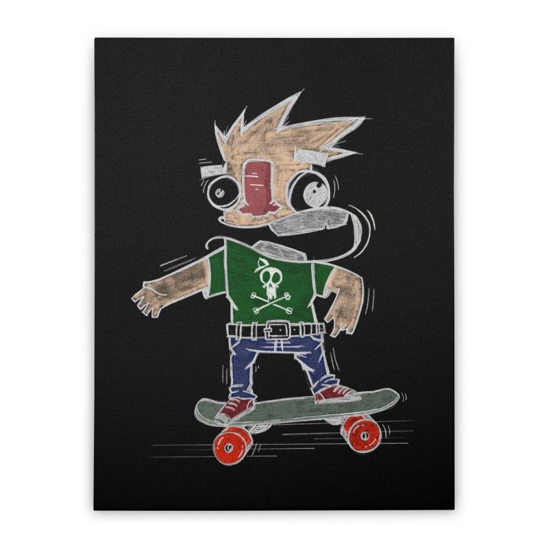 Skateman Home Stretched Canvas by manuvila
