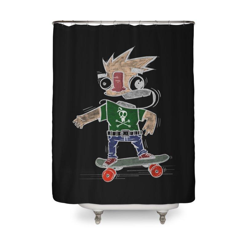 Skateman Home Shower Curtain by manuvila