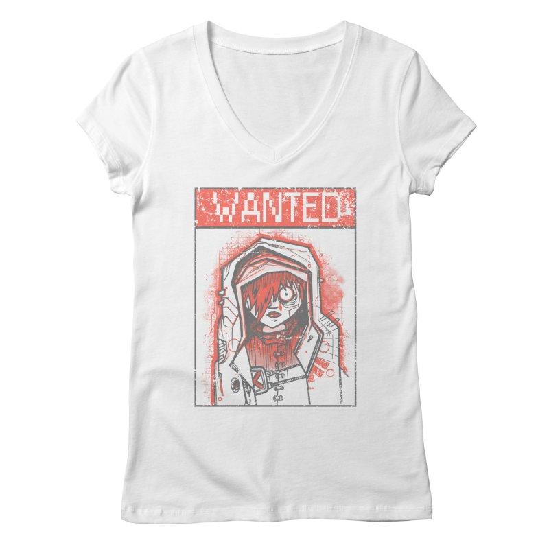bad girl Women's Regular V-Neck by manuvila