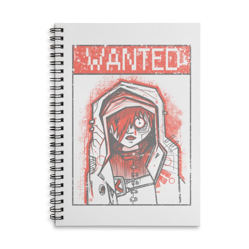 bad girl Accessories Lined Spiral Notebook by manuvila