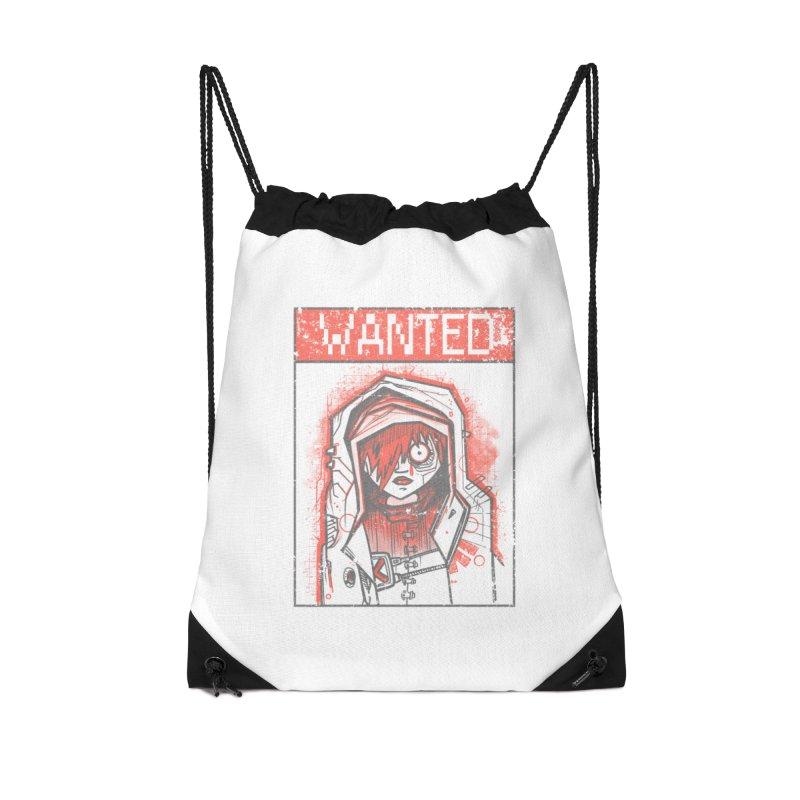 bad girl Accessories Drawstring Bag Bag by manuvila