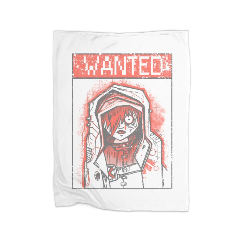 bad girl Home Fleece Blanket Blanket by manuvila