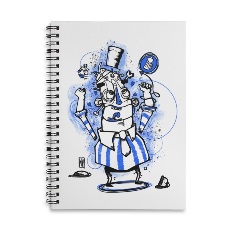 Beeer Accessories Lined Spiral Notebook by manuvila