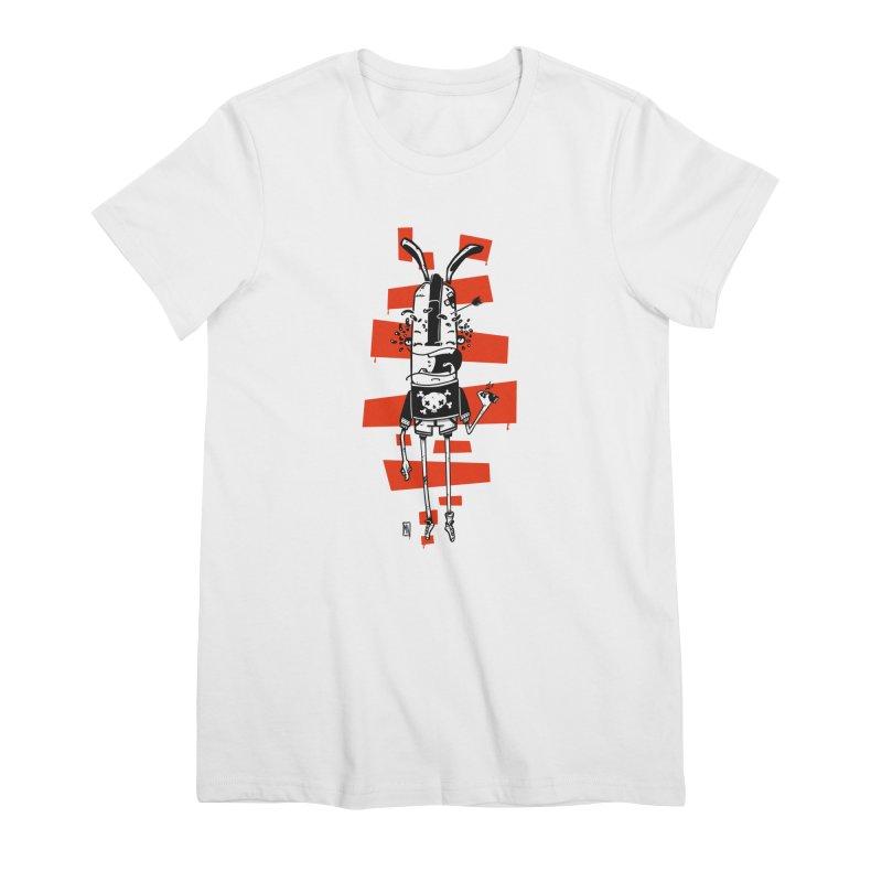 Graffiti rabbit Women's Premium T-Shirt by manuvila