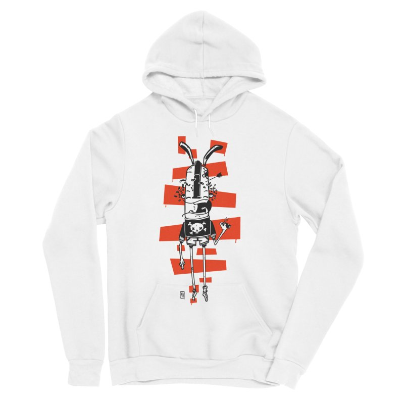 Graffiti rabbit Women's Sponge Fleece Pullover Hoody by manuvila