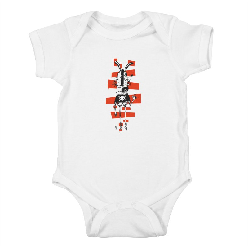 Graffiti rabbit Kids Baby Bodysuit by manuvila