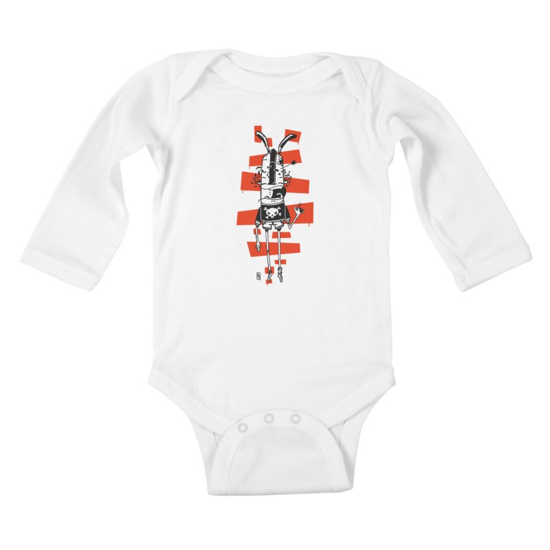 Graffiti rabbit Kids Baby Longsleeve Bodysuit by manuvila