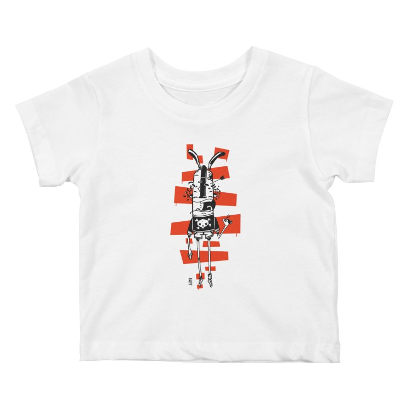 Graffiti rabbit Kids Baby T-Shirt by manuvila