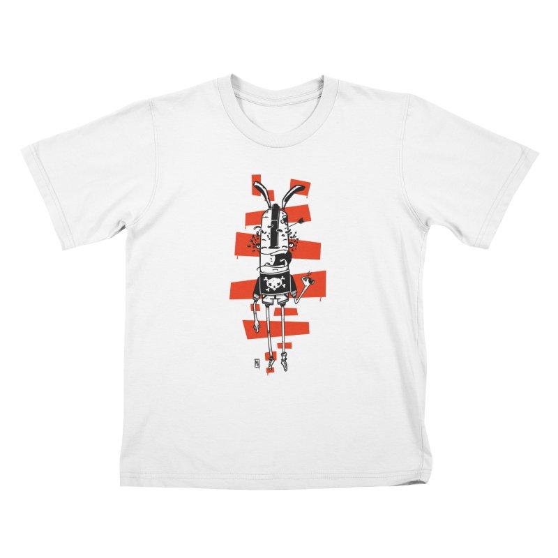 Graffiti rabbit Kids T-Shirt by manuvila