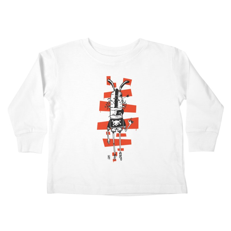 Graffiti rabbit Kids Toddler Longsleeve T-Shirt by manuvila