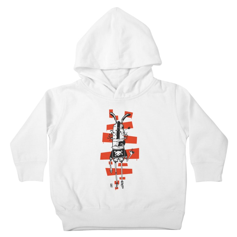 Graffiti rabbit Kids Toddler Pullover Hoody by manuvila