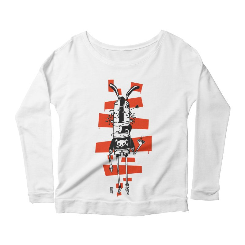 Graffiti rabbit Women's Scoop Neck Longsleeve T-Shirt by manuvila