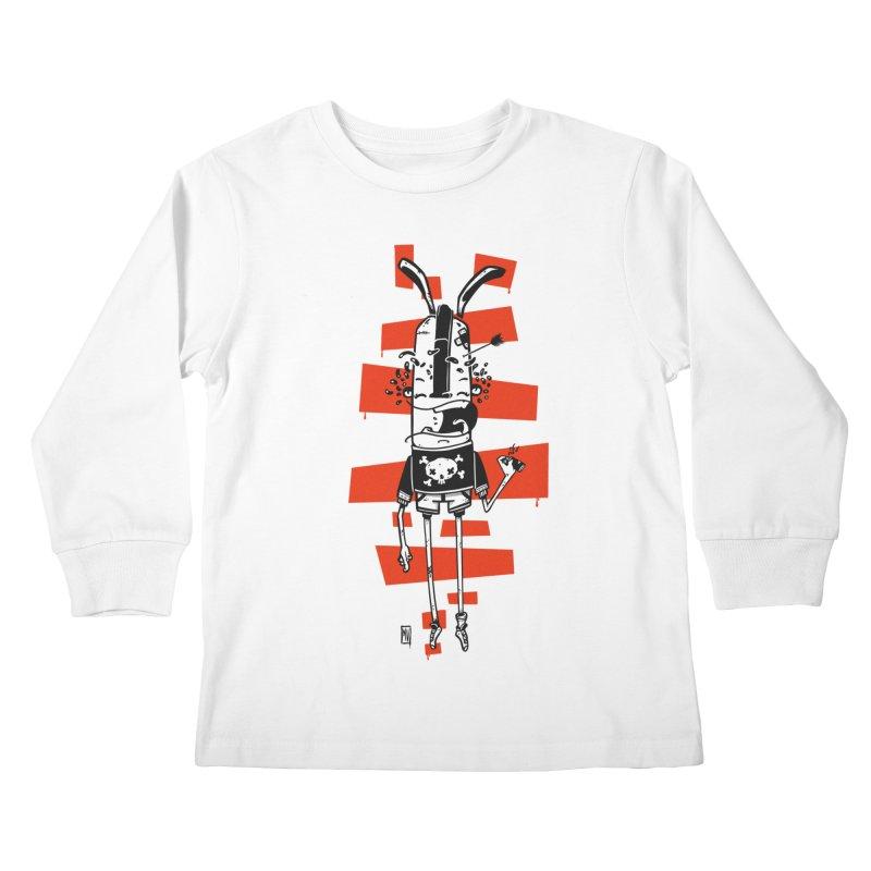 Graffiti rabbit Kids Longsleeve T-Shirt by manuvila