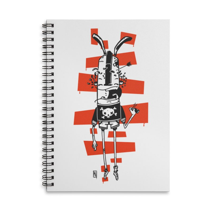 Graffiti rabbit Accessories Lined Spiral Notebook by manuvila