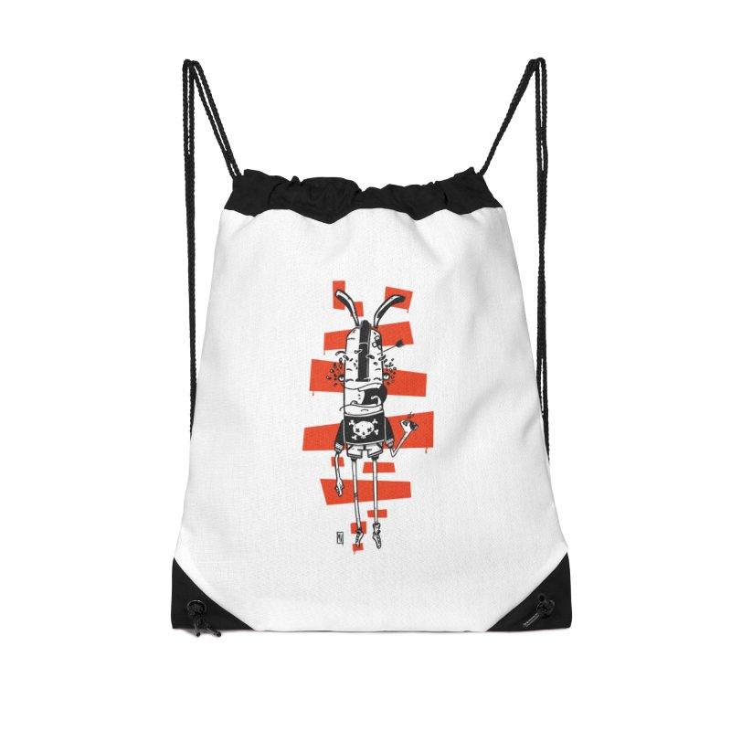 Graffiti rabbit Accessories Drawstring Bag Bag by manuvila