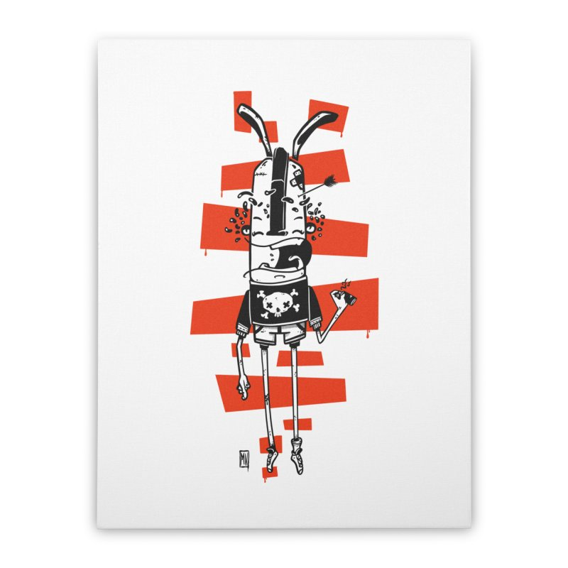 Graffiti rabbit Home Stretched Canvas by manuvila
