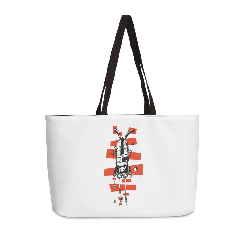 Graffiti rabbit Accessories Weekender Bag Bag by manuvila