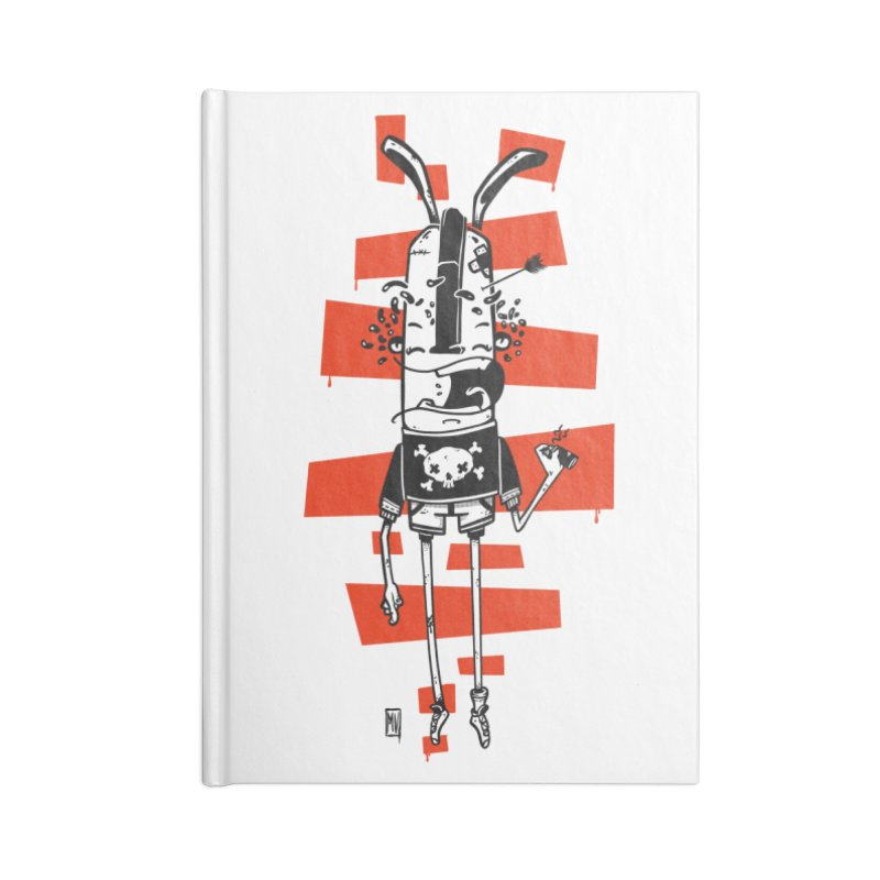 Graffiti rabbit Accessories Lined Journal Notebook by manuvila
