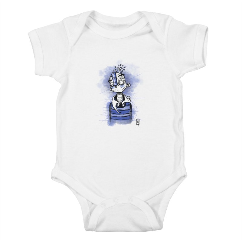 happy men Kids Baby Bodysuit by manuvila
