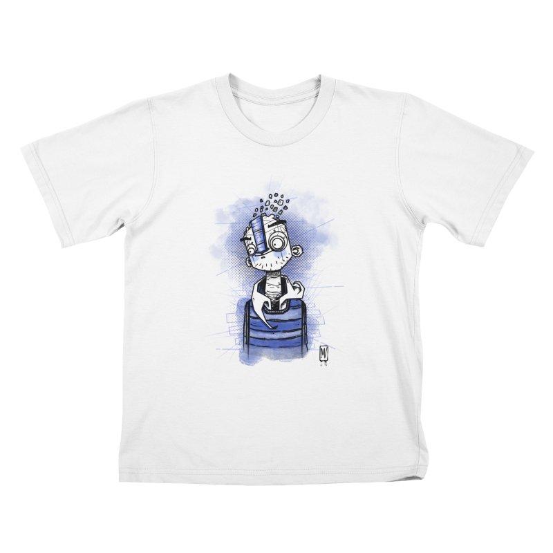 happy men Kids T-Shirt by manuvila