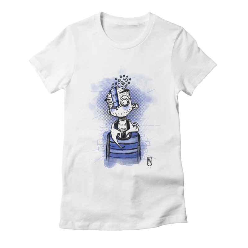 happy men Women's Fitted T-Shirt by manuvila