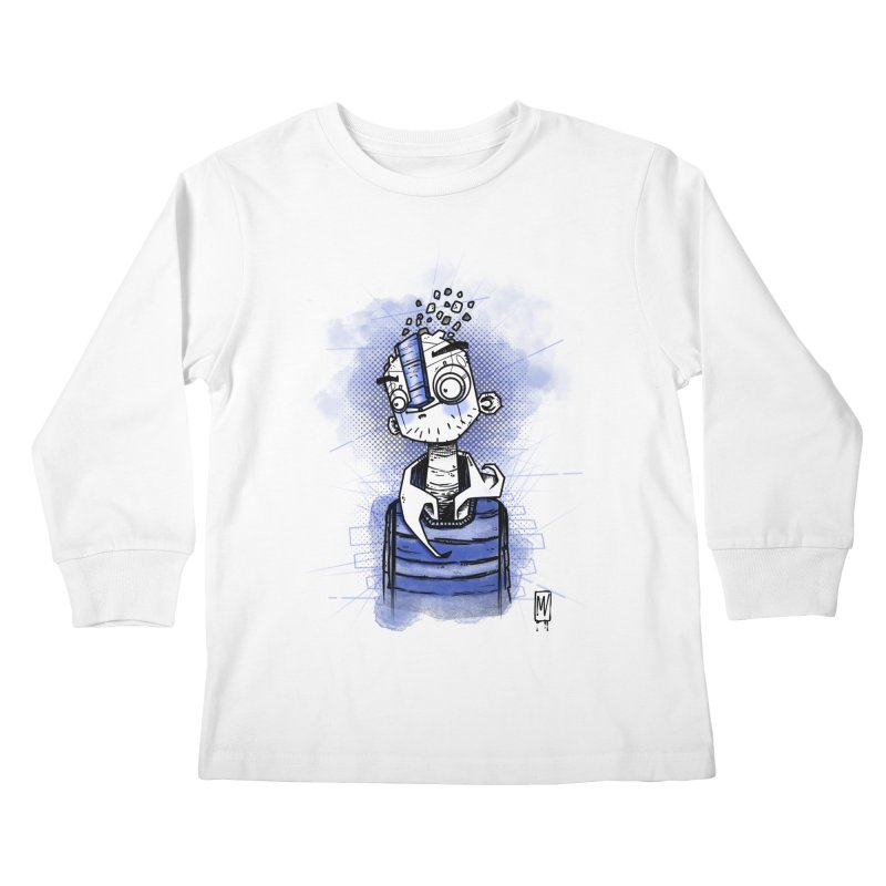 happy men Kids Longsleeve T-Shirt by manuvila