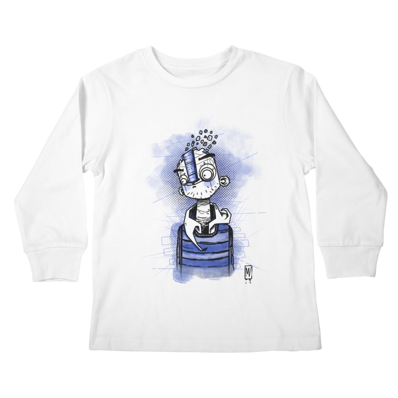 happy men Kids Longsleeve T-Shirt by manuvila