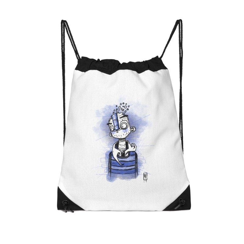 happy men Accessories Drawstring Bag Bag by manuvila