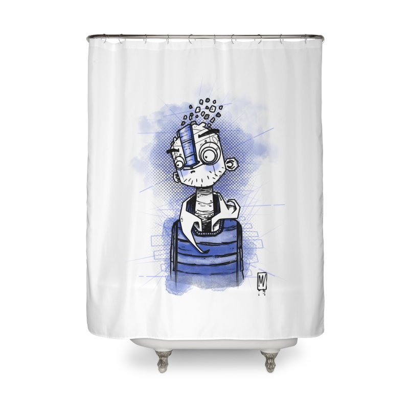 happy men Home Shower Curtain by manuvila
