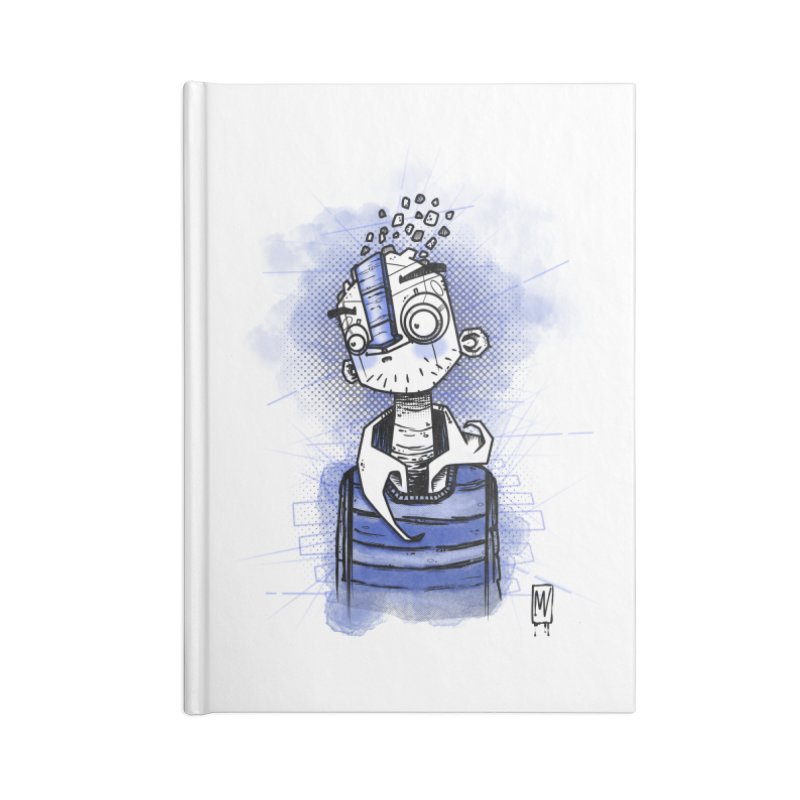 happy men Accessories Lined Journal Notebook by manuvila