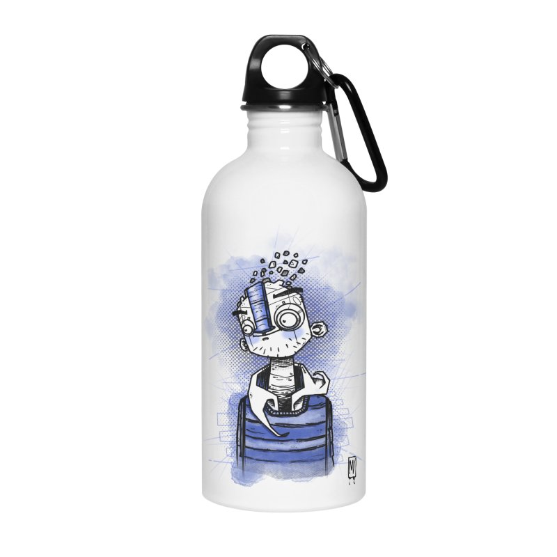happy men Accessories Water Bottle by manuvila