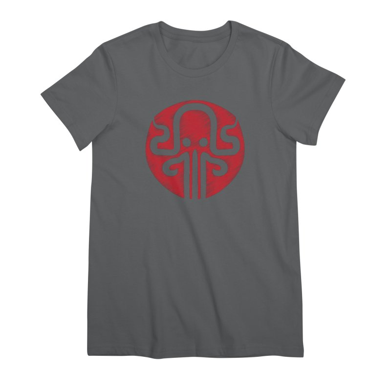red kraken Women's Premium T-Shirt by manuvila