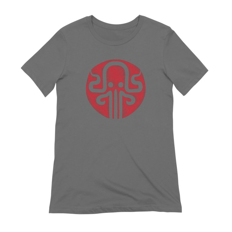 red kraken Women's Extra Soft T-Shirt by manuvila