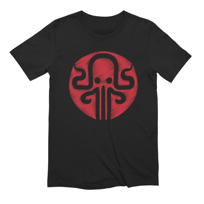 red kraken Men's Extra Soft T-Shirt by manuvila
