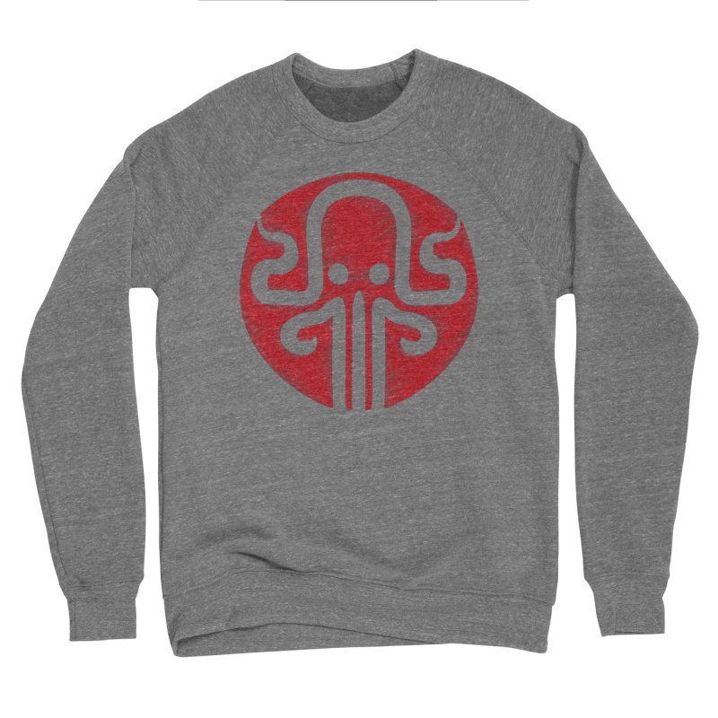 red kraken Men's Sponge Fleece Sweatshirt by manuvila