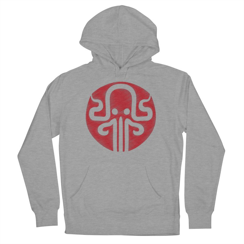 red kraken Women's French Terry Pullover Hoody by manuvila
