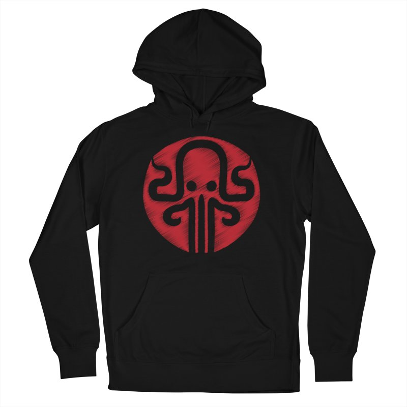 red kraken Men's French Terry Pullover Hoody by manuvila