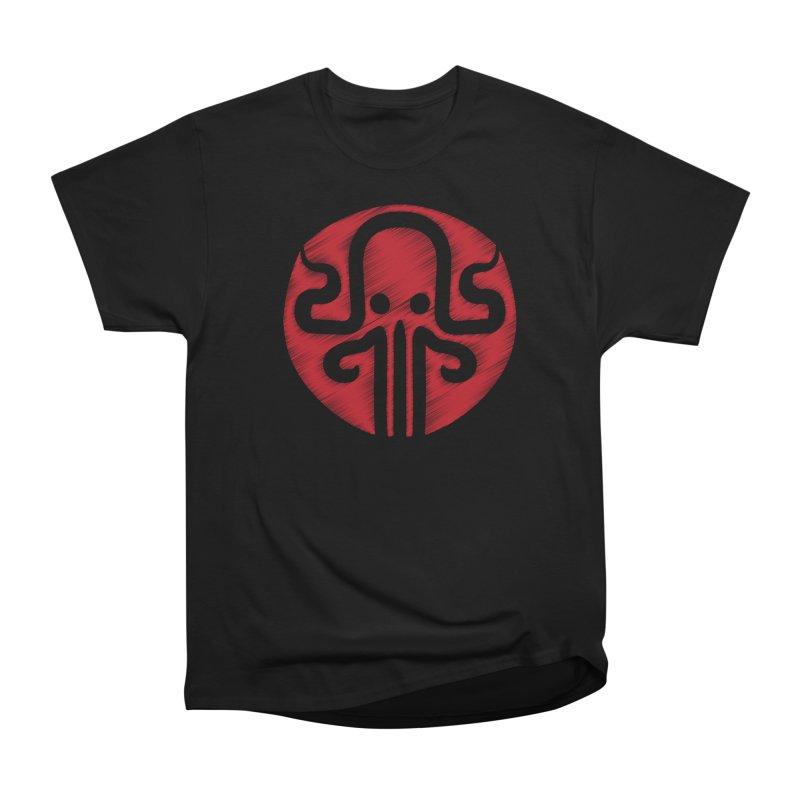 red kraken Women's Heavyweight Unisex T-Shirt by manuvila