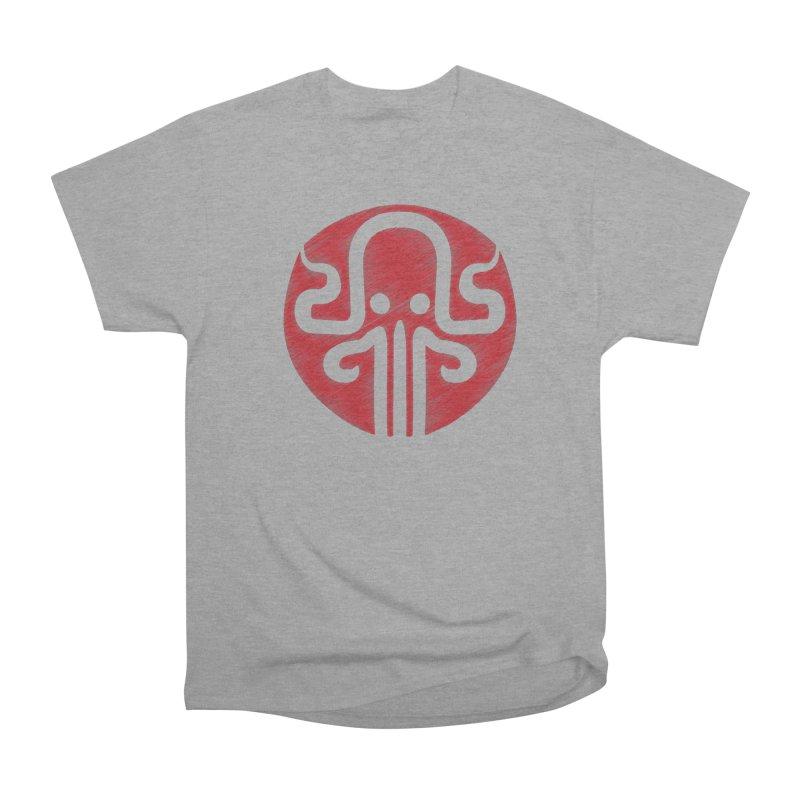 red kraken Men's Heavyweight T-Shirt by manuvila