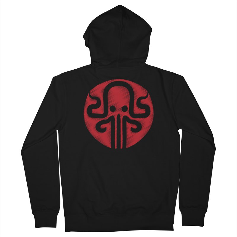 red kraken Men's French Terry Zip-Up Hoody by manuvila