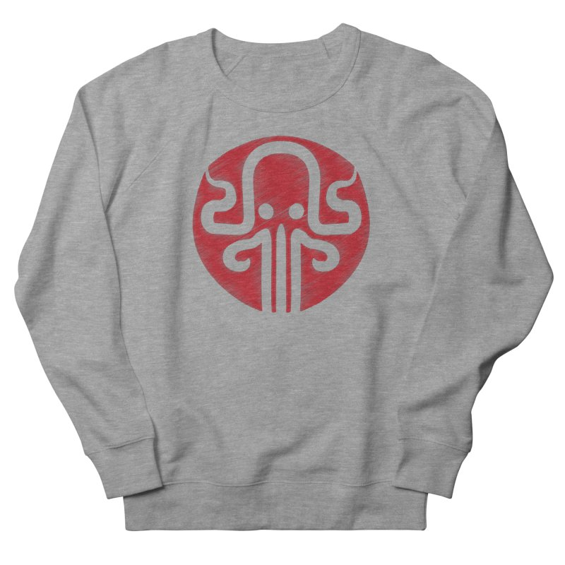 red kraken Men's French Terry Sweatshirt by manuvila