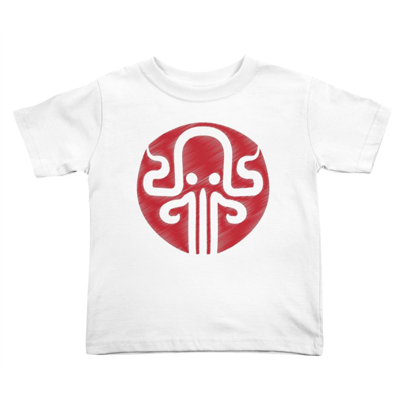 red kraken Kids Toddler T-Shirt by manuvila