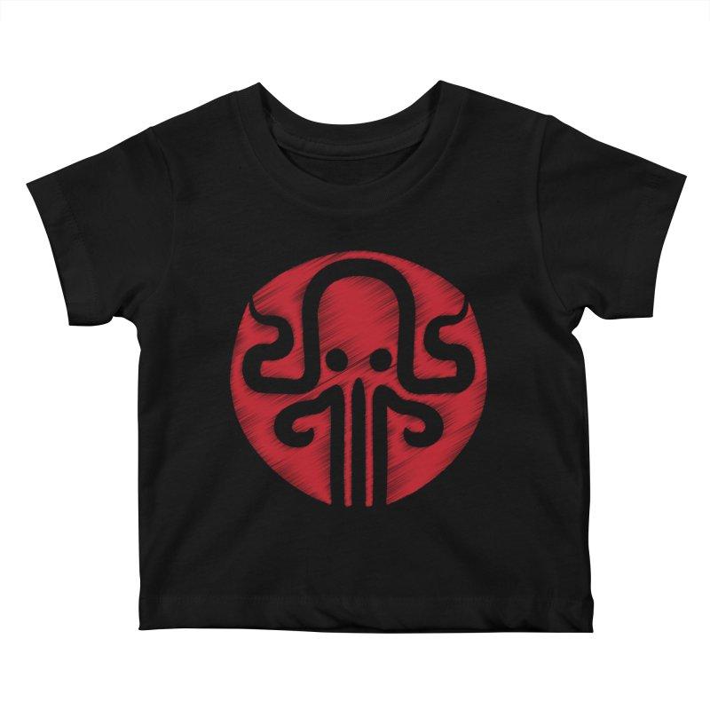 red kraken Kids Baby T-Shirt by manuvila