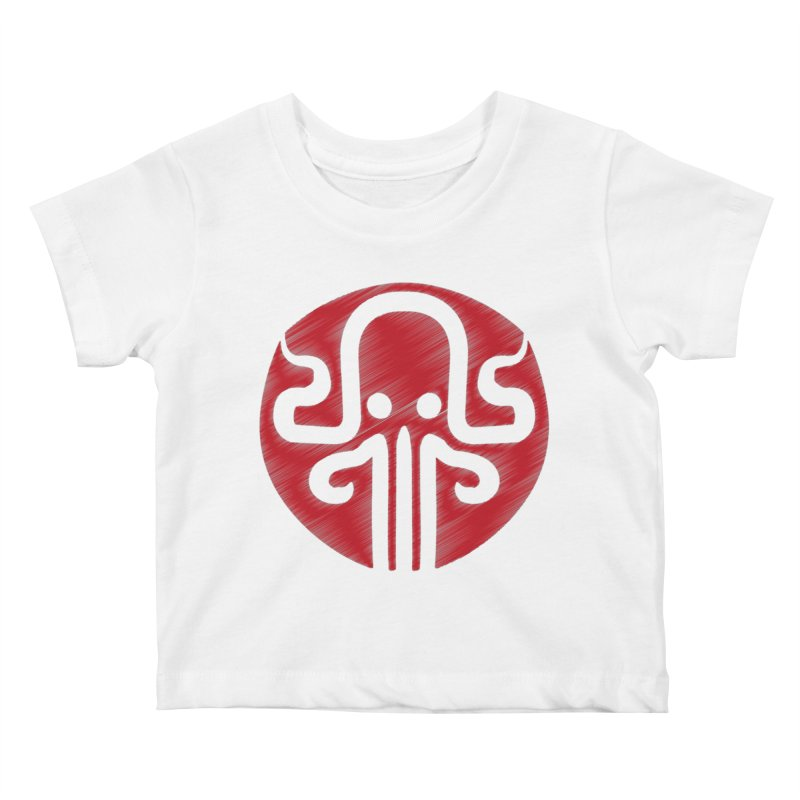 red kraken Kids Baby T-Shirt by manuvila