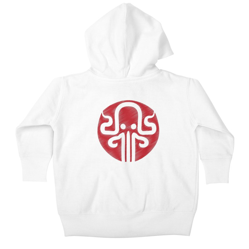 red kraken Kids Baby Zip-Up Hoody by manuvila