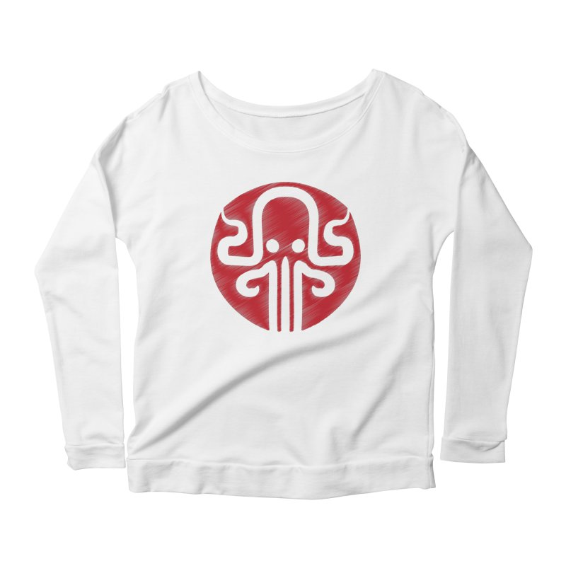 red kraken Women's Scoop Neck Longsleeve T-Shirt by manuvila