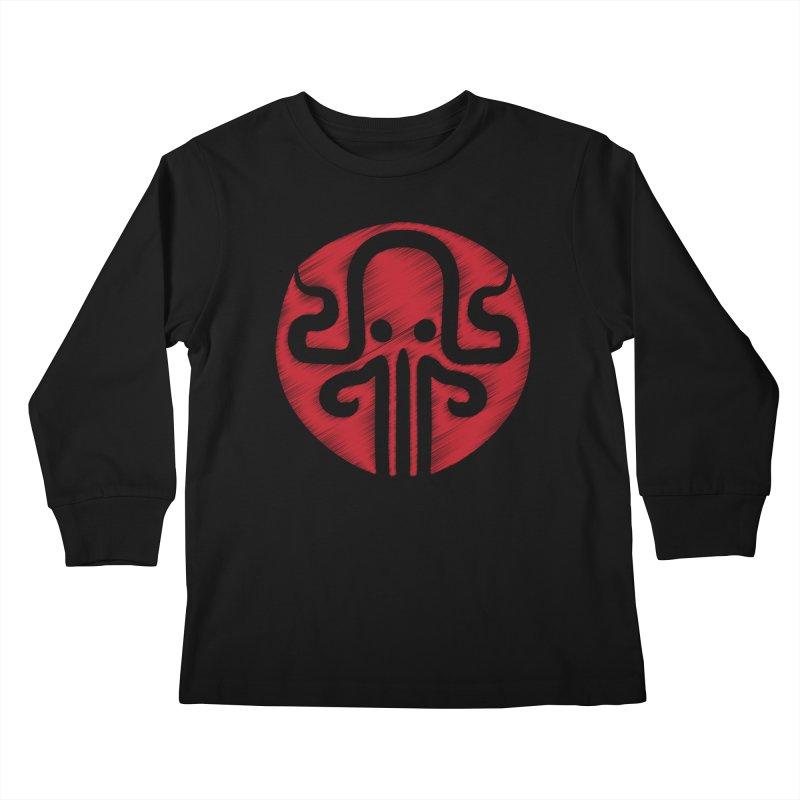 red kraken Kids Longsleeve T-Shirt by manuvila