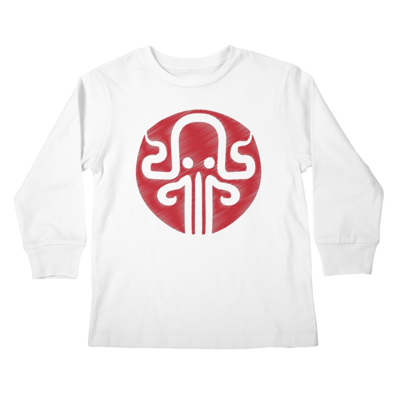 red kraken Kids Longsleeve T-Shirt by manuvila